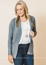 grey boyfriend cardigan with pockets