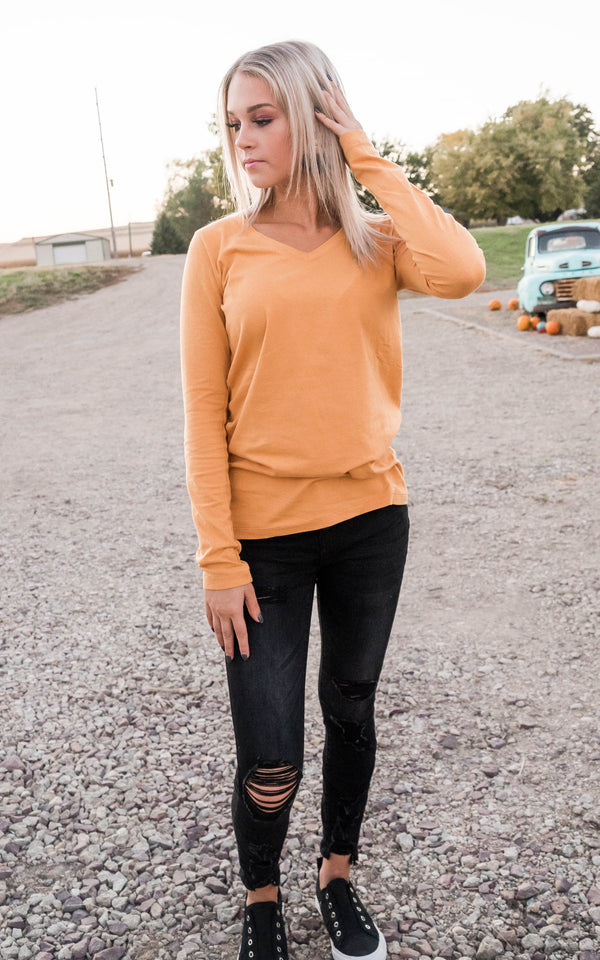 Basic Long Sleeve T-Shirt | FINAL SALE, CLOTHING, Zenana, BAD HABIT BOUTIQUE