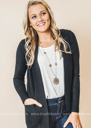 black boyfriend cardigan with pockets