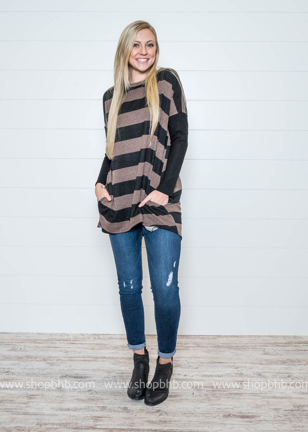 Making It Better Striped Tunic Top