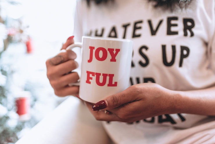 Joyful Coffee Mug 11oz, COFFEE MUG, BAD HABIT APPAREL, badhabitboutique