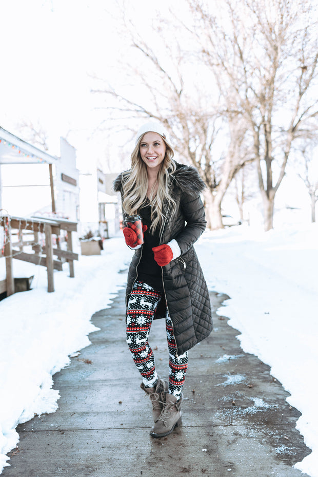 Reindeer Leggings | Red