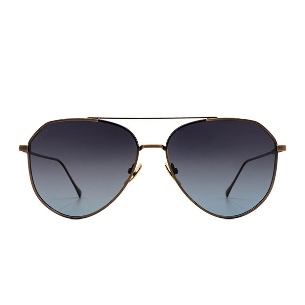 Dash Brushed Brown Gray Blue Polarized Sunglasse