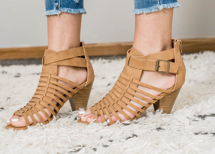 Caged  Sandal Pump - Chamber 23- FINAL SALE, SALE, East Lion Corp, BAD HABIT BOUTIQUE