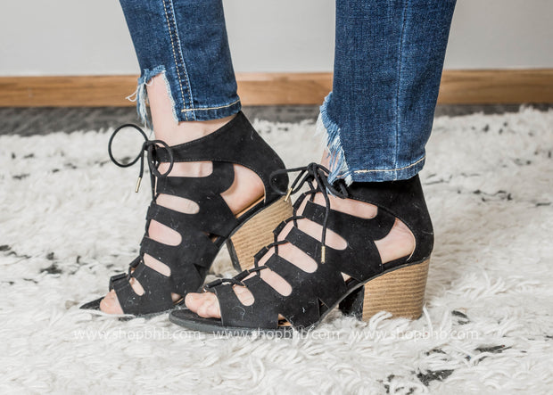 Strappy Lace Up Sandal - Core-135x- FINAL SALE