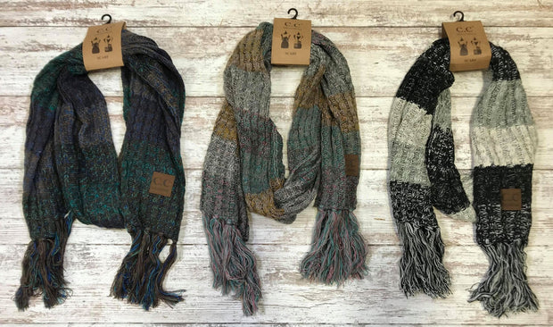 The Multi Color Knitted Scarf are subtle way to add color to your winter attire.