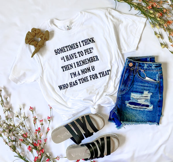 Sometimes I think ... Mom White Unisex T-shirt, CLOTHING, BAD HABIT APPAREL, BAD HABIT BOUTIQUE