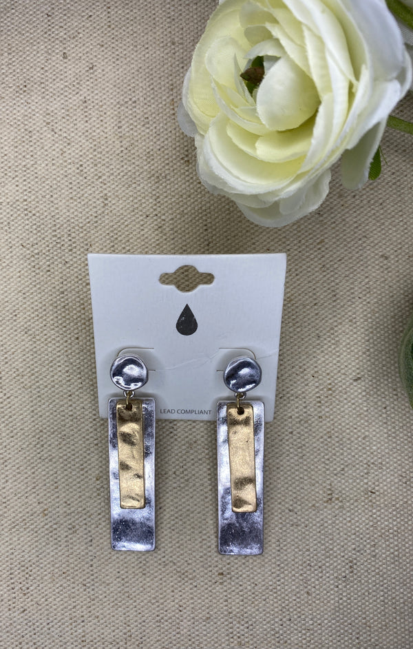 Sliver Me Some Silver Earrings, JEWERLY, JOIA, BAD HABIT BOUTIQUE
