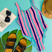 Stripes Away! One Piece Swimsuit