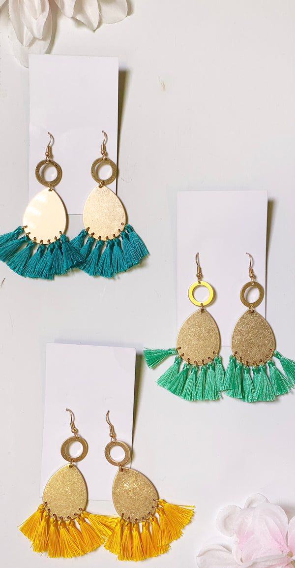 My Everyday Fringe Gold and Fringe Earrings, JEWERLY, JOIA, BAD HABIT BOUTIQUE
