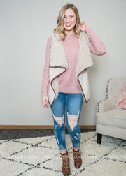 All the Right Elements Sherpa Vest, VESTS, Style Melody, BAD HABIT BOUTIQUE