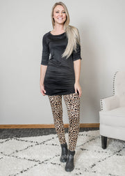 Cheetah Leggings, Leggings, White Birch, BAD HABIT BOUTIQUE