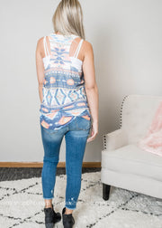 Aztec print tank top, TOPS, Phil Love, BAD HABIT BOUTIQUE