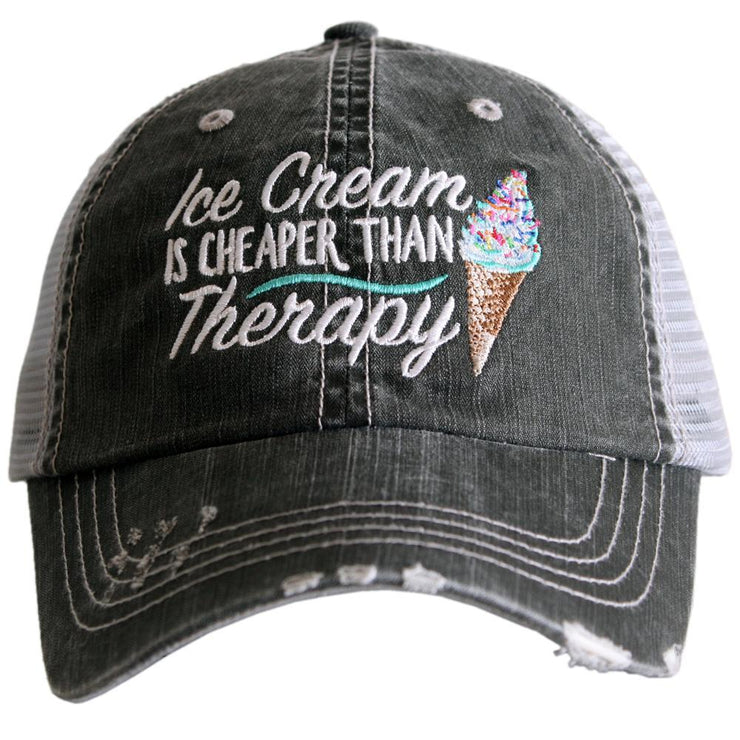 Ice Cream is Cheaper Than Therapy Trucker Hat