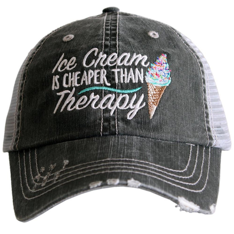 Ice Cream is Cheaper Than Therapy Trucker Hat - BAD HABIT BOUTIQUE