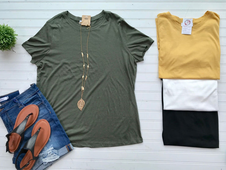 Curvy Girl Basic Tee, CLOTHING, HyFve, badhabitboutique