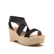 Qupid Black Suede Wedge- Logan08 | FINAL SALE, SHOES, East Lion Corp, BAD HABIT BOUTIQUE