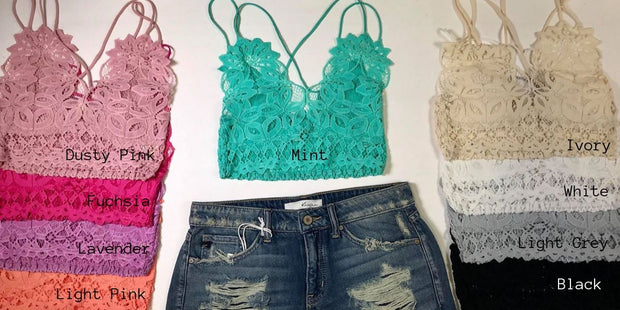So Fancy Lace Bralette, ACCESSORIES, Peach Love California, BAD HABIT BOUTIQUE