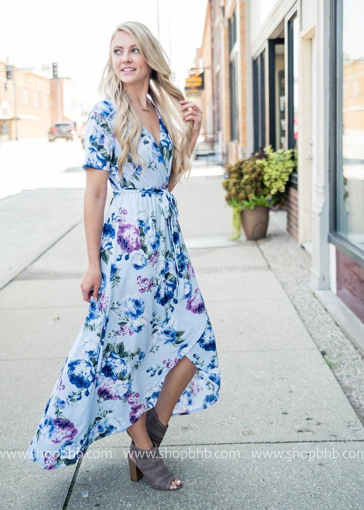 Floral Wrap Dress, SALE, First Love, badhabitboutique