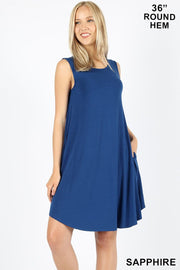 Sleeveless Basic Tank Dress