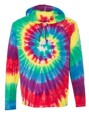 RAINBOW Tie Dye Hooded Pullover Long Sleeve | FINAL SALE, CLOTHING, SSACTIVE, BAD HABIT BOUTIQUE