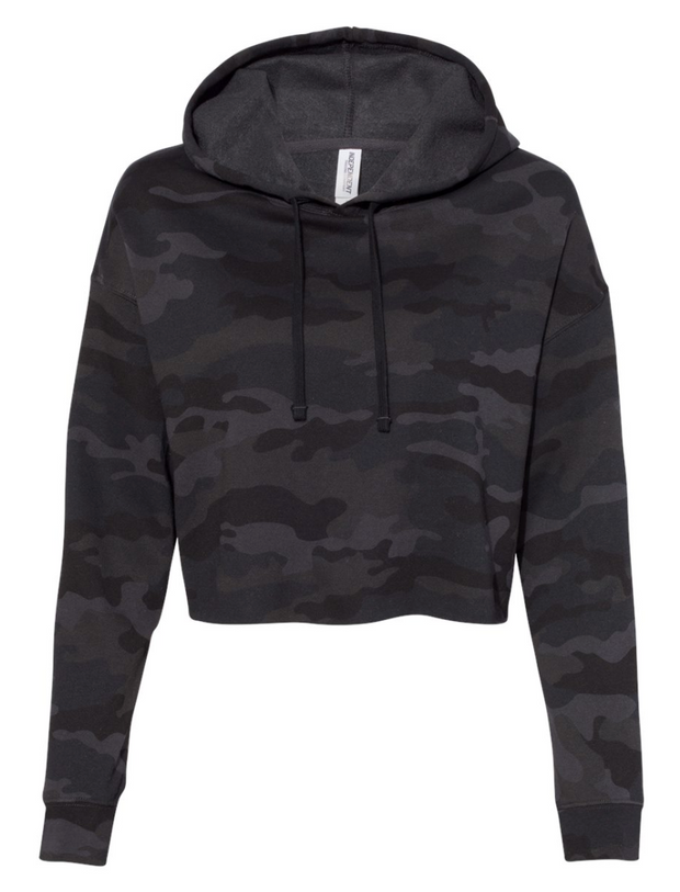 Cropped Camo Hoodie *PREORDER*