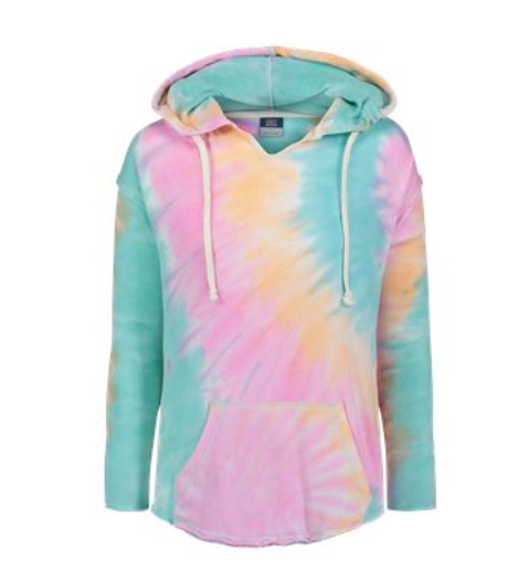 Sherbert Tie Dye Pull Over Hoodie - Final Sale, CLOTHING, SS, BAD HABIT BOUTIQUE