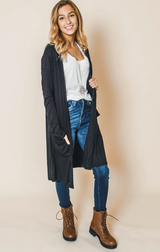 Classic Pocket Duster Cardigan | FINAL SALE, CLOTHING, Active Basic, BAD HABIT BOUTIQUE