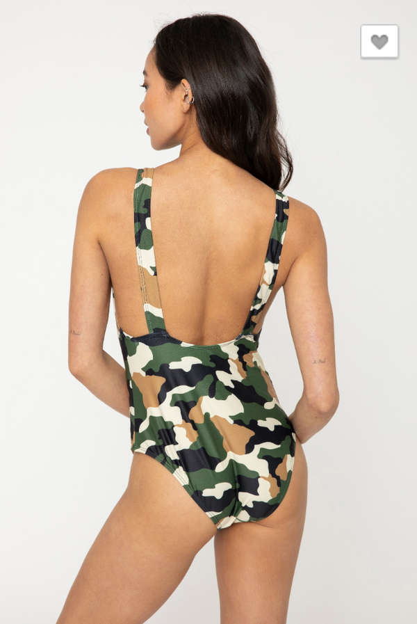 Camo 1 Piece  Swimsuit for Women, CLOTHING, Marina West Swim, BAD HABIT BOUTIQUE