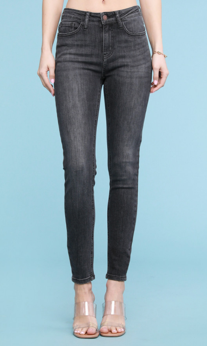Grey High Waisted Skinny Jeans| Judy Blue | SALE, CLOTHING, JUDY BLUE, BAD HABIT BOUTIQUE
