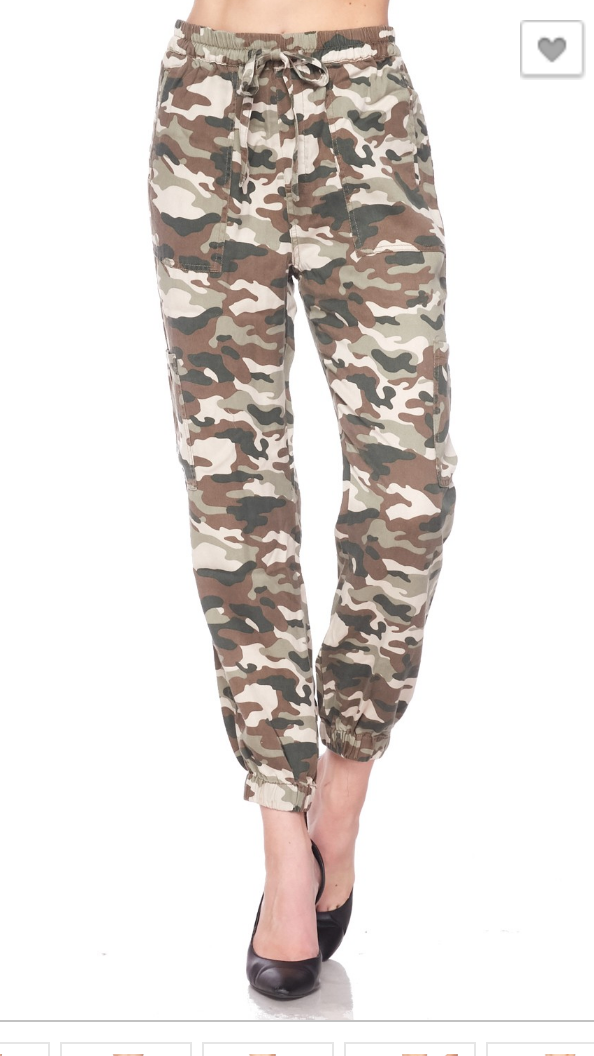 All Over Camo Waist Tie Cargo Pants - Final Sale, CLOTHING, love tree, BAD HABIT BOUTIQUE