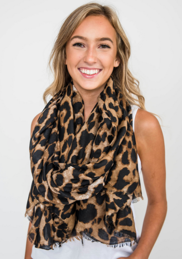 Cheetah Scarf, CLOTHING, JOIA, BAD HABIT BOUTIQUE