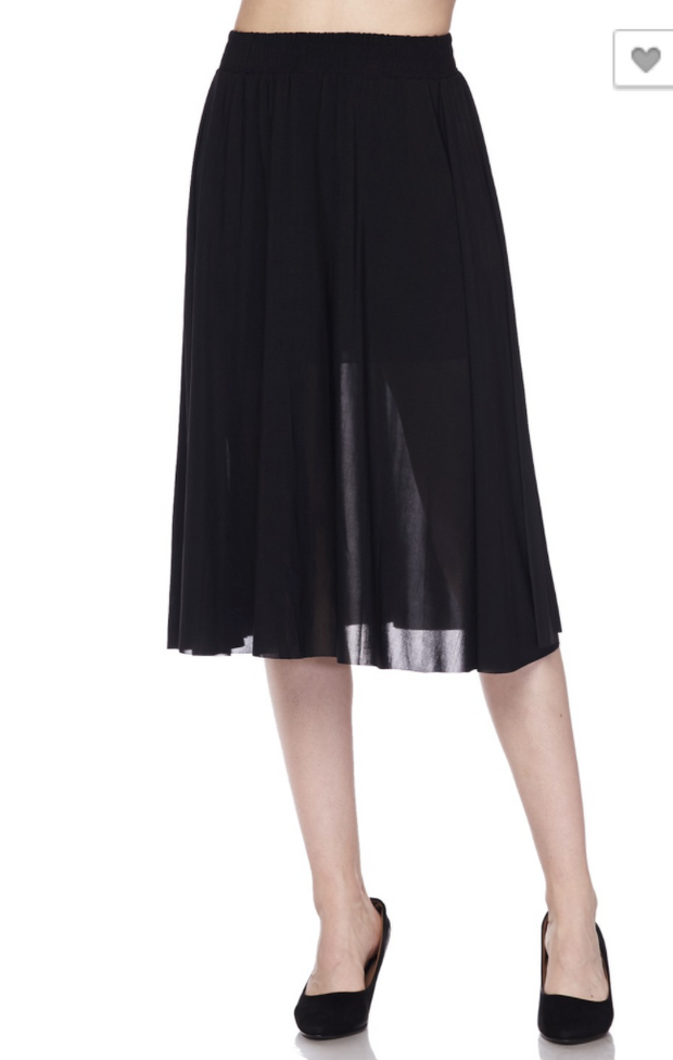 Light weighted Midi Skirt | BLACK