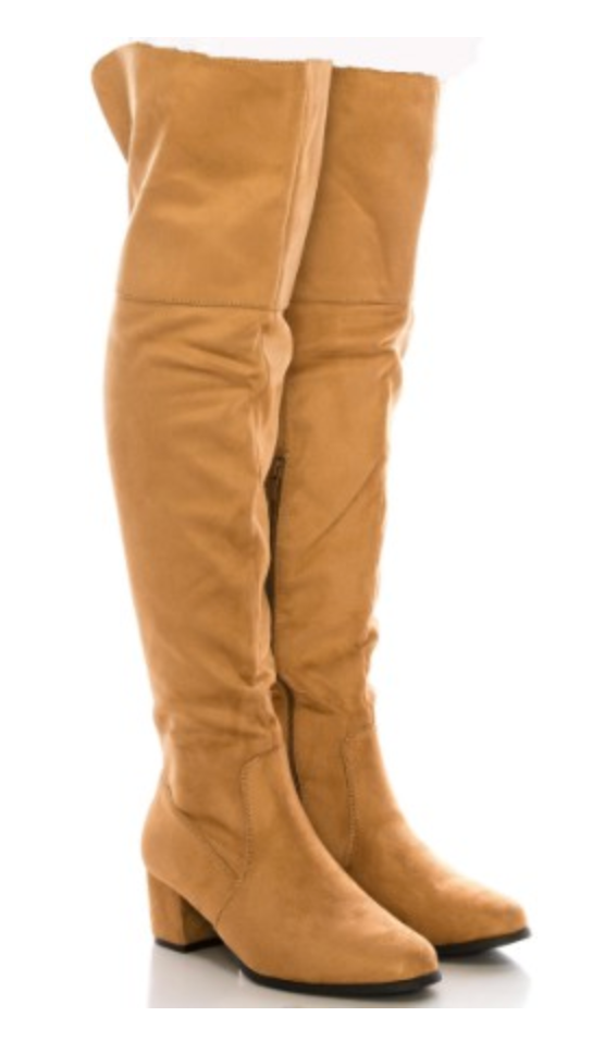 Suede Over The Knee Boots, CLOTHING, SHOE SHOE TRAIN, BAD HABIT BOUTIQUE