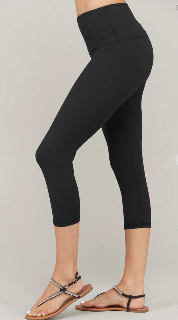 Basic Everyday Black Capris