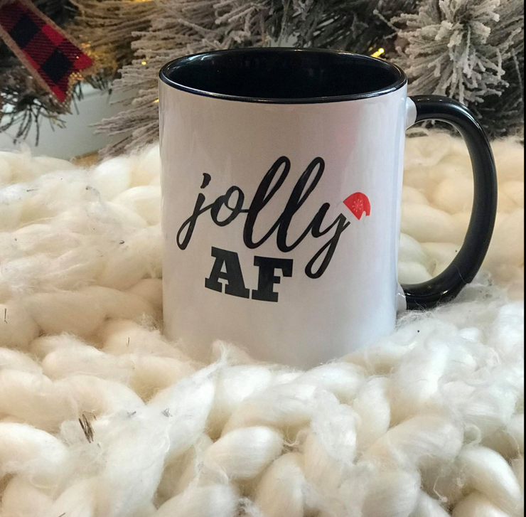 Jolly AF Coffee Mug 11 0z, COFFEE MUG, BAD HABIT APPAREL, badhabitboutique