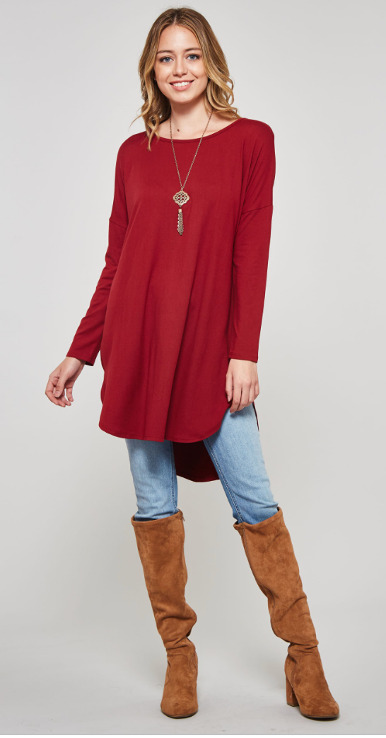 Good Company Solid Tunic, TUNIC, Bellamie, badhabitboutique