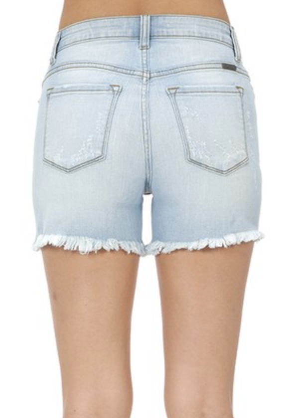 Meant To Be Mid Thigh Denim Kan Can Shorts