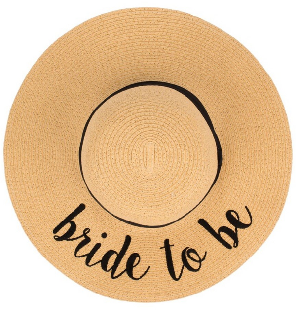 Bride To Be Sun Hat, ACCESSORIES, Olive & Pique, BAD HABIT BOUTIQUE