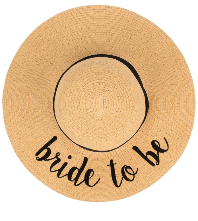 Bride To Be Sun Hat, HATS, Olive & Pique, BAD HABIT BOUTIQUE