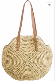 Roam Together Round Bamboo Bag  | FINAL SALE