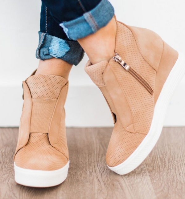 ZOEY Wedge Sneakers- FINAL SALE, SHOES, CCOCCI, BAD HABIT BOUTIQUE