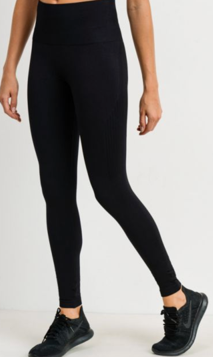 Seamless Track Side Leggings | BLACK, Leggings, Mono B, BAD HABIT BOUTIQUE