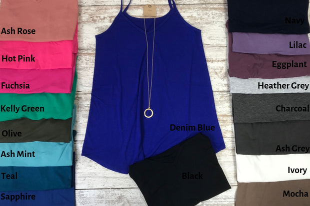 This tank is the jack of all trades for a tank to style with.  Spaghetti strap tank, tank, tanks, cami
