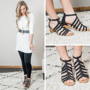 Doria Strappy Open Toe Sandal - Doria-05E, SHOES, East Lion Corp, badhabitboutique