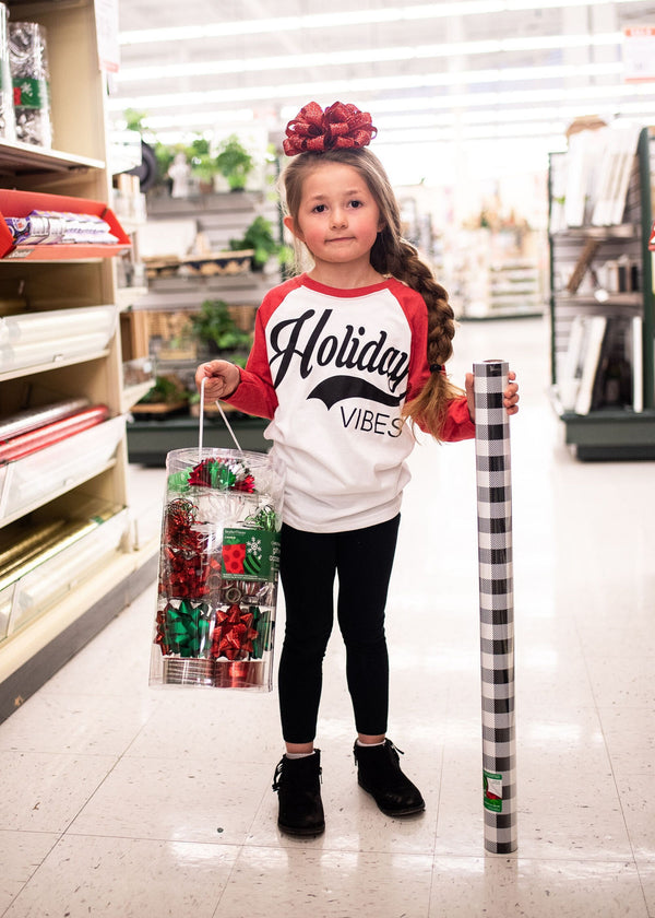 Holiday Vibes Baseball Top | YOUTH, CLOTHING, BAD HABIT APPAREL, BAD HABIT BOUTIQUE