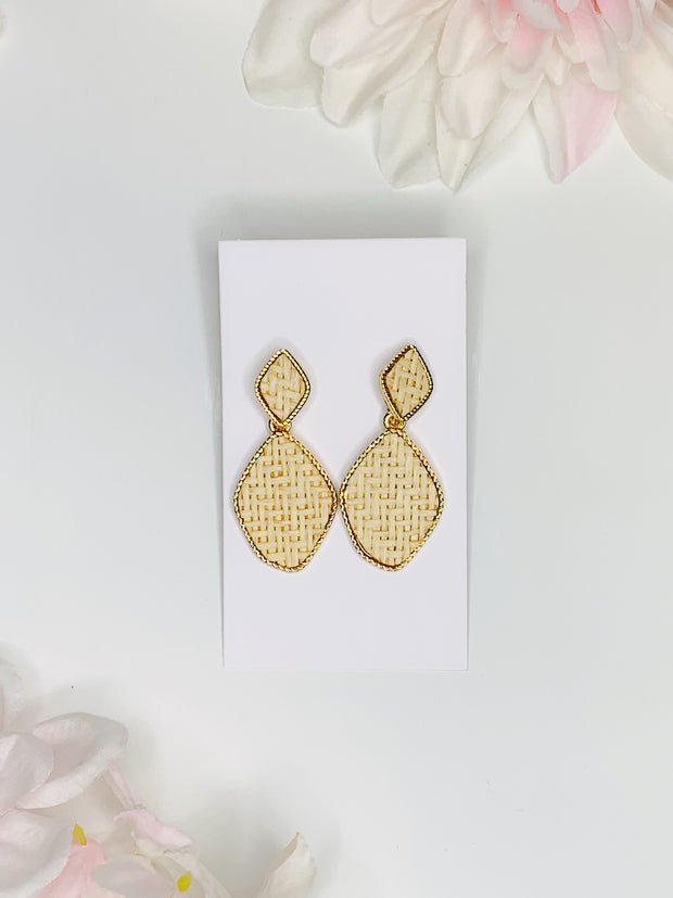 My Kind of Diamond Wicker Earrings
