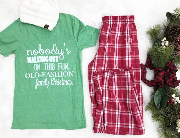 Nobody's Walking Out Christmas Tee - BAD HABIT BOUTIQUE