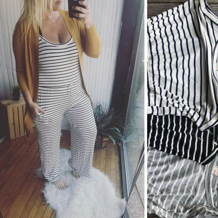 Stripe Jumpsuit- FINAL SALE