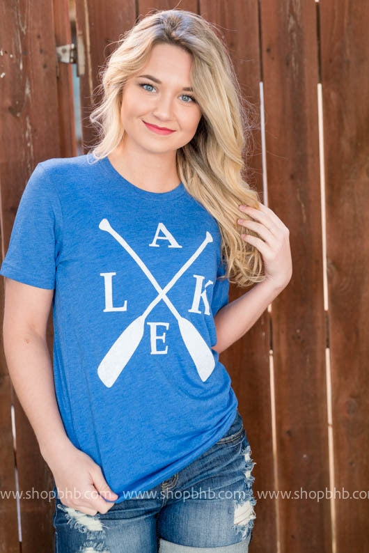 Lake Paddle Unisex Tshirt Blue, WHAT'S NEW, GRAPHICS, badhabitboutique